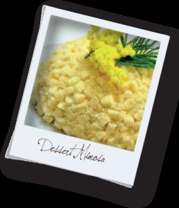 Dessert Mimosa - menù 8 marzo 2020